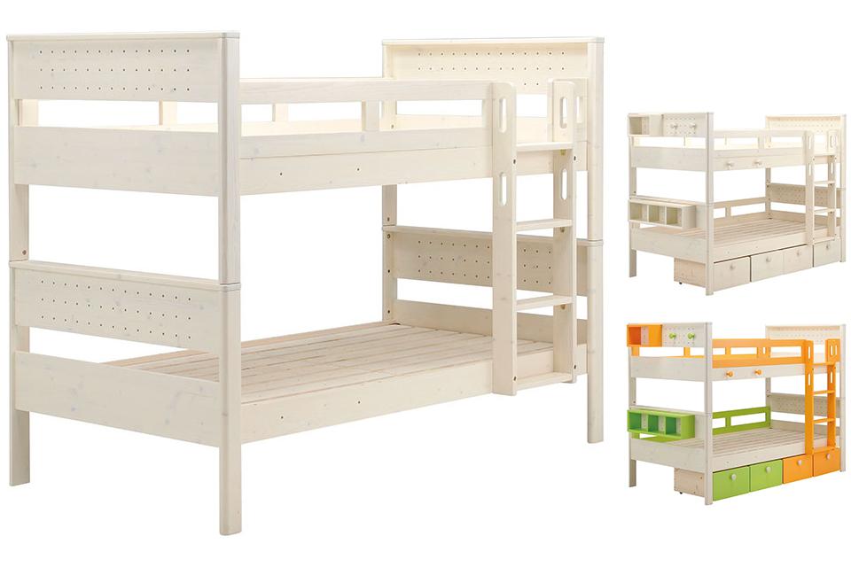 ヒュッテ 2段ベッド WH | 商品紹介   家具は村内